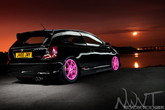 Slammed Honda Civic Type R Light Painted As The Moon Rises photo by NWVT.co.uk