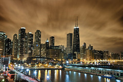 Chicago Skyline by Night - From Navy Pier photo by w4nd3rl0st (InspiredinDesMoines)