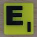 Scrabble Black Letter on Yellow E