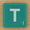 Scrabble White Letter on Green T