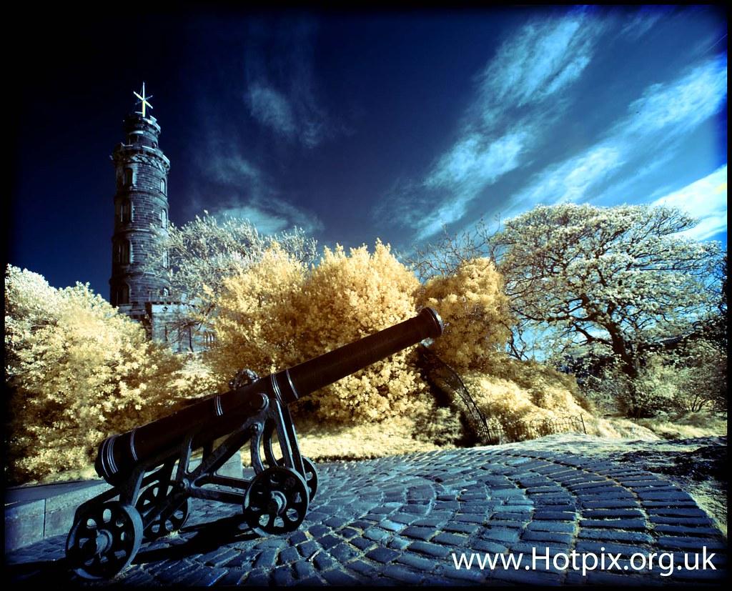 The Canon, Calton Hill, Edinburgh Scotland Colour Infra Red photo by @HotpixUK -Add Me On Ipernity 500px