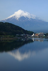 Inverted image of Mt. Fuji photo by ♥ Spice (^_^)