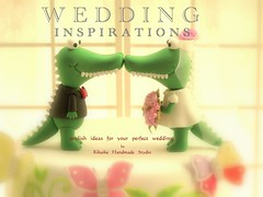 Wedding Cake Topper-love alligator,crocodile photo by charles fukuyama