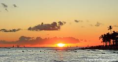 Sunset Waikiki photo by Feng Wei Photography