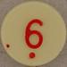Plastic Bingo Number 6