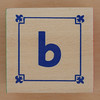 Block Lowercase Letter b