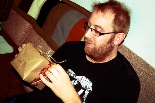 Tod Opening a Present