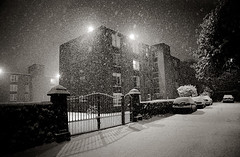 Apartments, Lights & Snow, Dublin, Ireland photo by 2c..