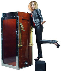High Heels and Houdini's Chinese Water Torture Cell photo by Dayle Krall:Most Accomplished Female Escape Artist