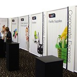 Tower and Fabric Drop Exhibition Stand