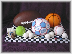 Sports balls for baby photo by Cake Diane Custom Cake Studio (eyedewcakes)