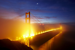 The Golden Gate Bridge (wrapped in fog) photo by photofanman