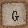 Vintage brick letter G