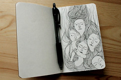 Journal drawing page photo by Heidi Burton / Making Strangers