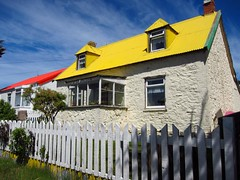 Brilliant colours on Stanley homes in the Falkland Islands photo by D70
