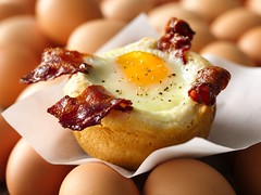 Bacon and Egg Savory Cupcakes Recipe photo by Betty Crocker Recipes
