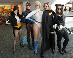 Zatanna, Bucky Barnes, Power Girl, Batgirl, Catwoman photo by uncle_shoggoth