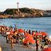 Praia de Ipanema (ao fundo, a Pedra do Arpoador)