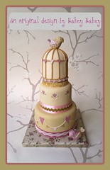Vintage Sweetheart Birdcage wedding cake photo by Bakey Bakey