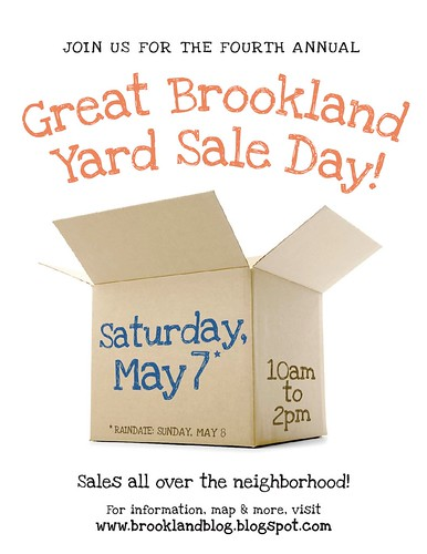 Great Brookland Yard Sale Flyer