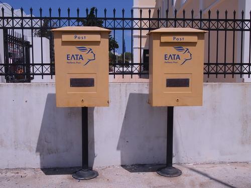 希臘聖托里尼島-斐拉郵筒
