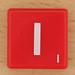 Scrabble White Letter on Red I