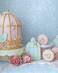 birdcage cake, cupcakes and cookies photo by Cakes by Tessa