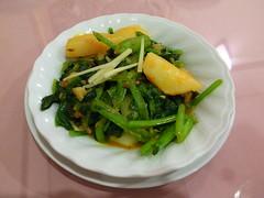 小松菜とジャガイモ