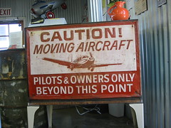 Caution! Moving Aircraft