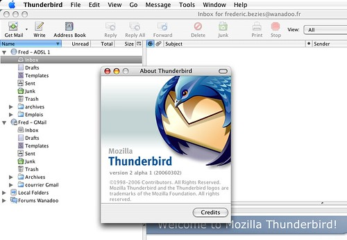 Thunderbird 2.0 alpha 1