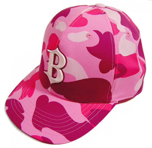 BAPE-B-camo-baseball-cap-pink
