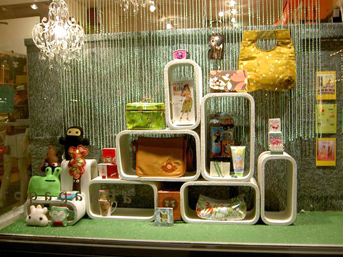 window display at boutique in ontario, canada