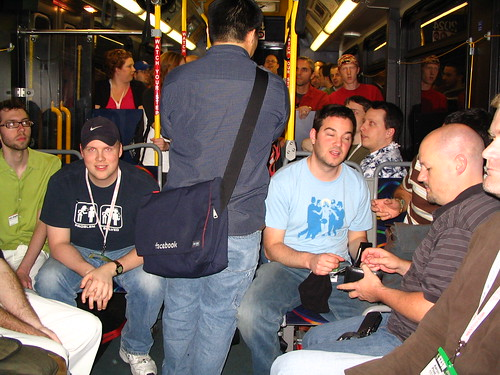 On the bus, going to bowling!