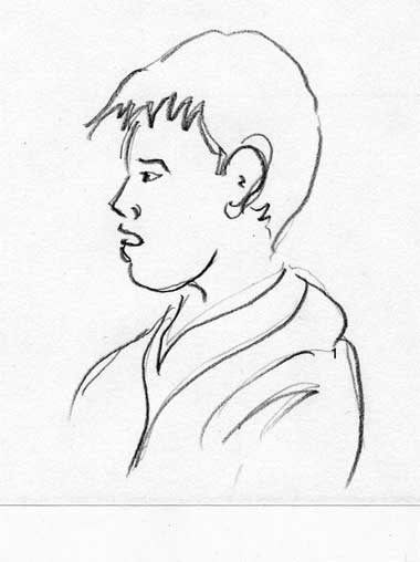 a drawing of a boy