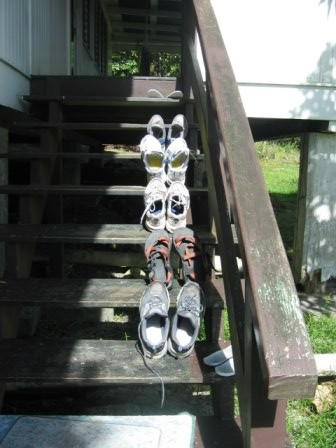 shoes drying