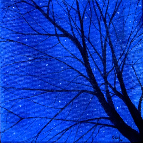 Tree Stars, Acrylic on Canvas, 9