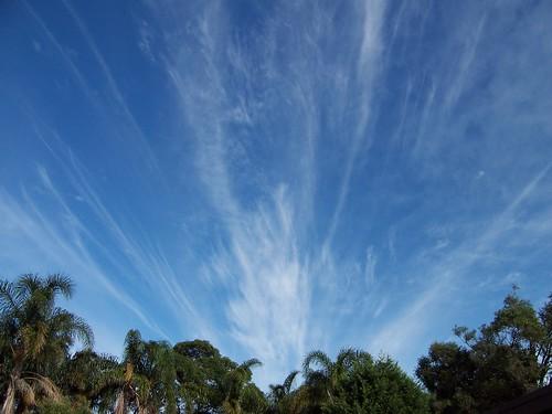 Streaky sky over Woy Woy