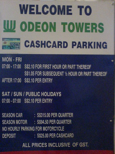 Parking at Odeon Towers