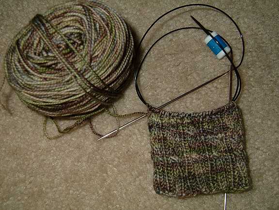 Oak Ribbed Cable Sock