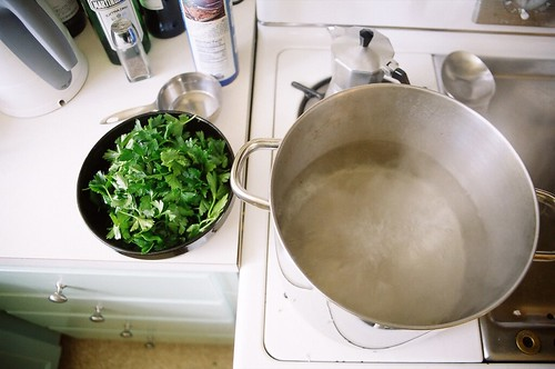 boiling parsley