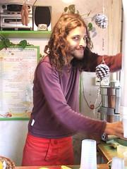 Ido, the juice man on Sheinkin St.