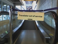 Travelator out of service