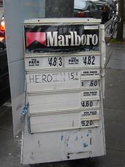 Heroin, fifteen bucks a pack