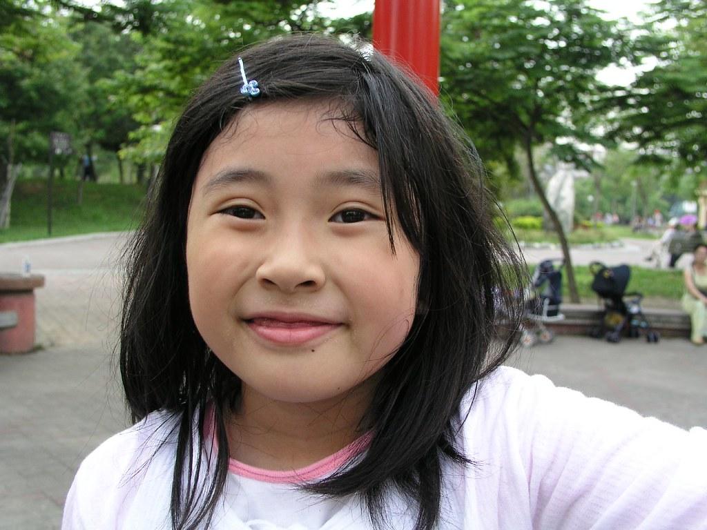 中和四號公園—看那 Annie 滿足的笑臉