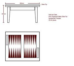 backgammon table - original drawing