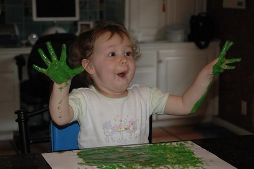 green hands