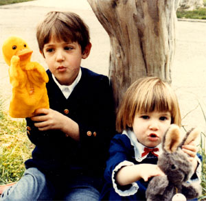 Me, Sister, Easter Puppets