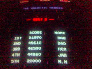 I briefly had the high score on Galaga