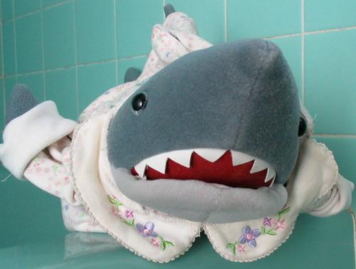 shark wearing a dress