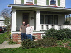 Us in front of our house.